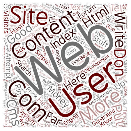 let: Let s Hear It For Web text background wordcloud concept Illustration