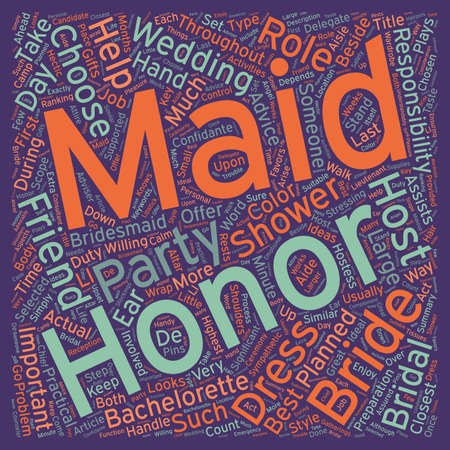 honor: Maid Of Honor The Bride s First Lieutenant text background wordcloud concept
