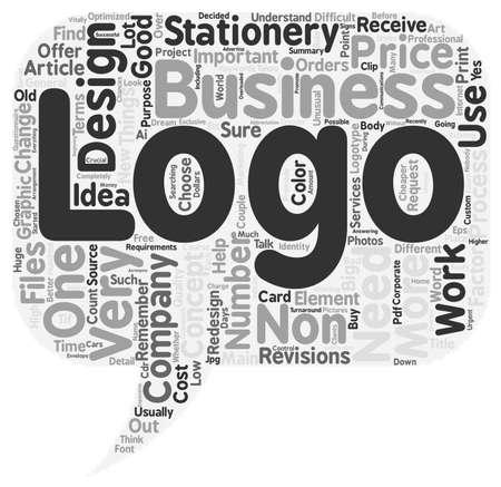non: Logo Design for Non Designers text background wordcloud concept Illustration