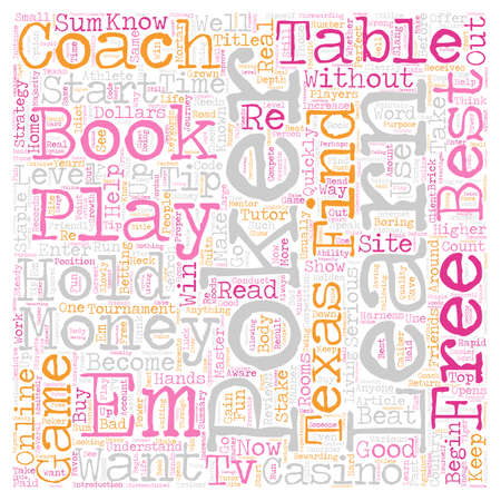 Learn To Play Poker text background wordcloud concept