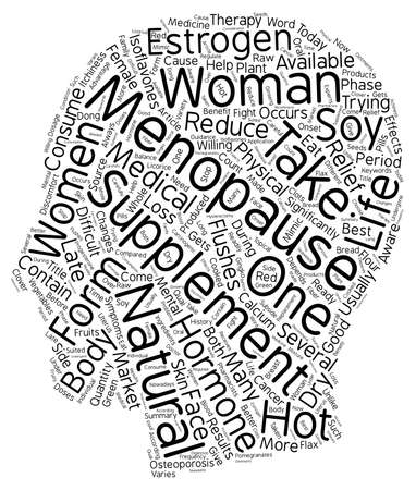 late 40s: Menopause Supplements text background wordcloud concept
