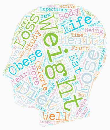 realize: Lose Weight Or Lose 13 Years text background wordcloud concept