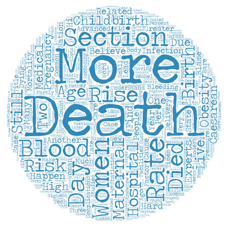 maternal: Maternal Deaths Still Happen In This Day and Age text background wordcloud concept