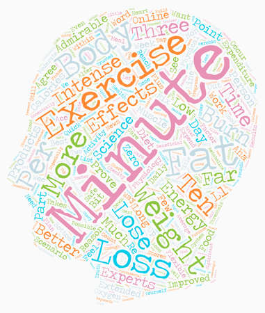 Minute Weight Loss Exercise Proves Most Effective text background wordcloud concept