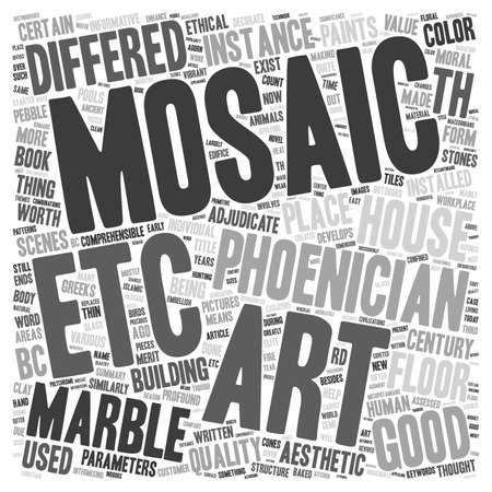 parameters: Marble Mosaic Art text background wordcloud concept Illustration