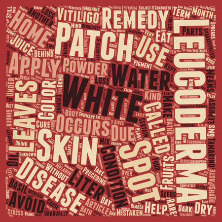 patches: Leucoderma White Spots And Patches text background wordcloud concept