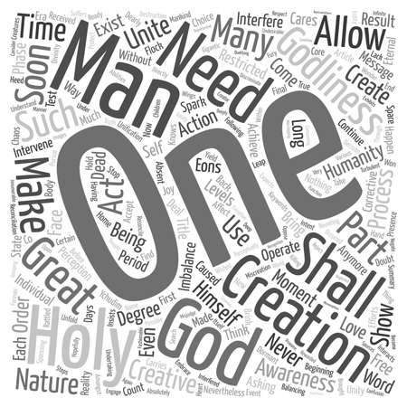 periods: Message from The Holy One text background wordcloud concept