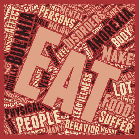 malign: Malign Effects of Anorexia and Bulimia text background wordcloud concept
