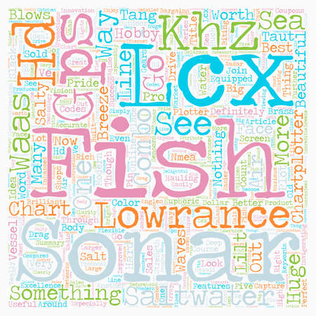 sonar: Lowrance Lcx c Hd khz Sonar gps waas Chartplotter Combo text background wordcloud concept