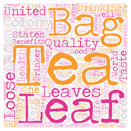 loose leaf: Loose Leaf Tea In The United States A Short History text background wordcloud concept Illustration