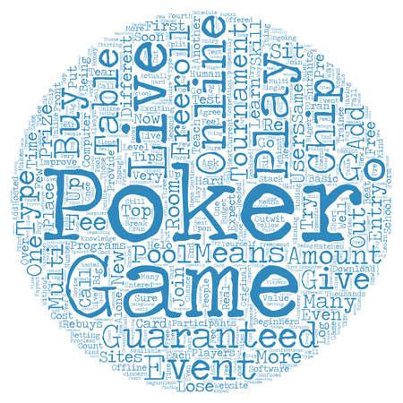 expect: live online poker text background wordcloud concept Illustration