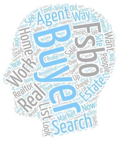 accelerate: Market Changes Favor FSBOs text background wordcloud concept