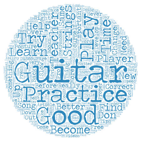beginner: Learn to Play Guitar Free Tips for Beginner Guitar Players text background wordcloud concept