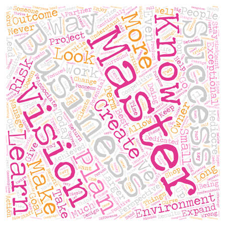 Masterful Business People text background wordcloud concept Illustration
