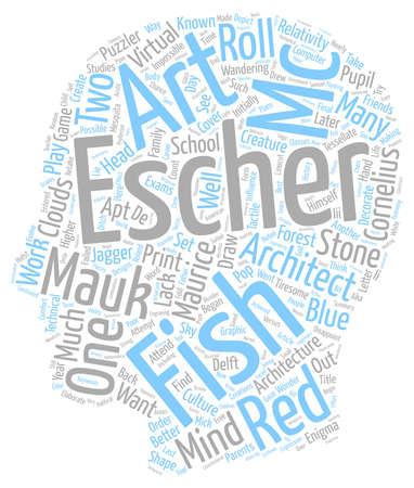 escher: Maurice Cornelius Escher MC Escher text background wordcloud concept