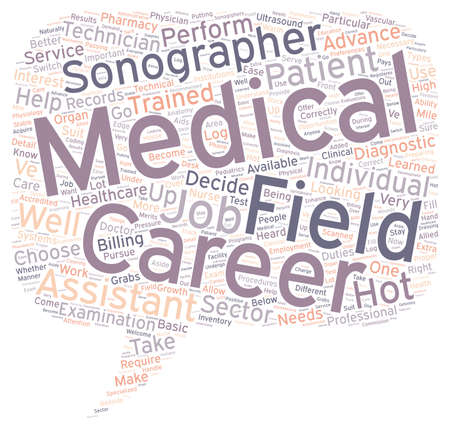 medico carriere campo testo di sfondo concetto wordcloud