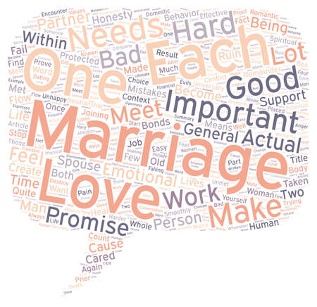 universally: Marriage text background wordcloud concept