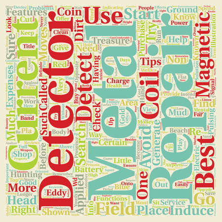 pulsing: Little Known Repair Tips For Your Metal Detector text background wordcloud concept