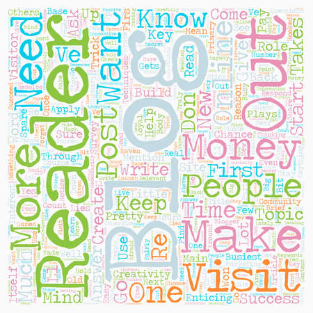 make summary: Make Money With Every Visitor In Your Blog text background wordcloud concept