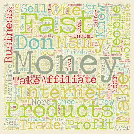 make money fast: Make Money Fast text background wordcloud concept Illustration