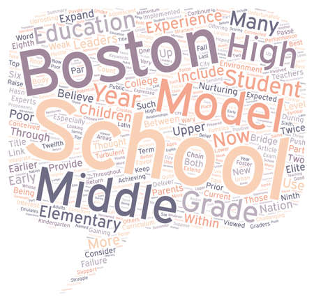 passe: Middle School May Be Passe Within The Boston Schools text background wordcloud concept Illustration