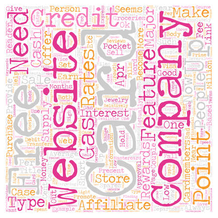 Make Money Sell Credit Cards text background wordcloud concept