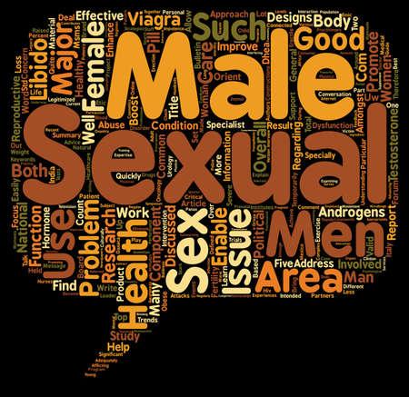 salud sexual: Componente Principal de mujer y hombre de salud sexual y la libido Buen fondo de texto de wordcloud concepto
