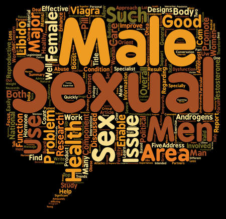 Major Component Of Female And Male Sexual Health And Good Libido text background wordcloud concept