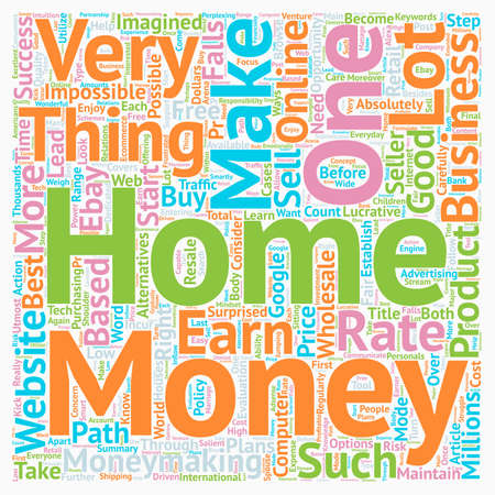 make summary: Make Money From Home text background wordcloud concept Illustration