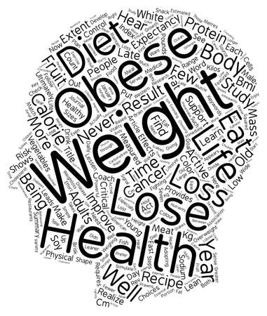 realize: Lose Weight Or Lose Years text background wordcloud concept