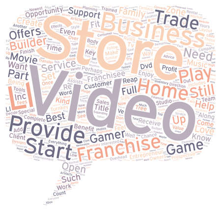 Love Movies Perhaps A Video Franchise Business Is For You text background wordcloud concept Иллюстрация