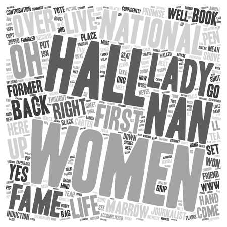 nan: Lunch With The Former First Lady text background wordcloud concept Illustration