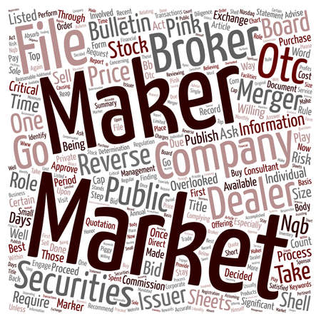 Market Makers Play a Significant Role in Reverse Mergers text background wordcloud concept