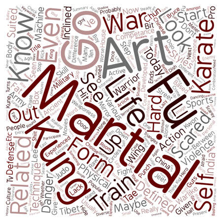 relating: Martial Extreme Sports Are You Informed text background wordcloud concept Illustration