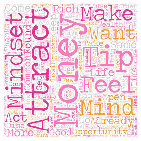 thread count: Mindset To Attract Money text background wordcloud concept