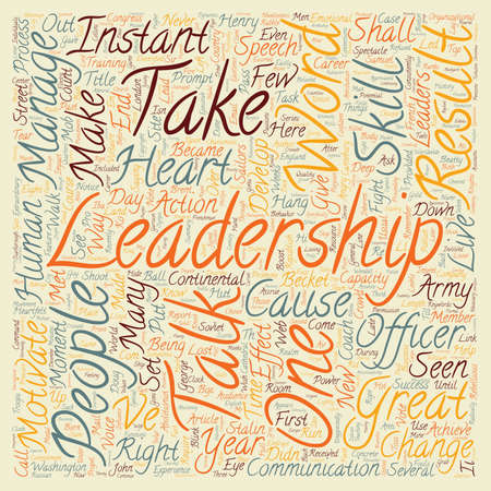 Instant Leadership Talks text background wordcloud concept
