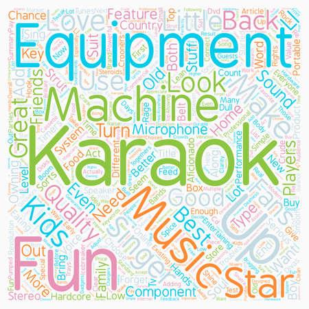 Karaoke Equipment text background wordcloud concept