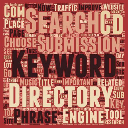 keyword: Keyword Research Guide How and Why text background wordcloud concept Illustration