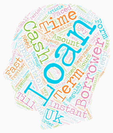 background next: Instant Loans Cash Keeps Finance in Order Till the Next Financial Replenishment text background wordcloud concept