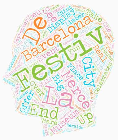 La Merce Festival Of Barcelona text background wordcloud concept