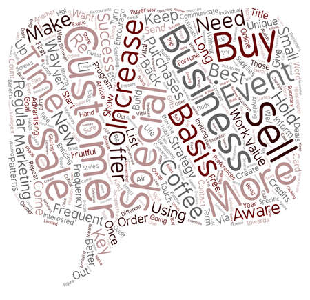 frequency: Increase Customer Frequency text background wordcloud concept