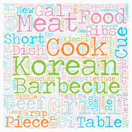 sizzle: Korean cue text background wordcloud concept