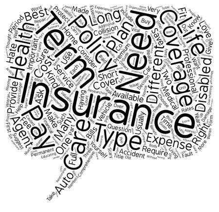 Insurance Made Easy A Guide For The Consumer text background wordcloud concept Ilustrace