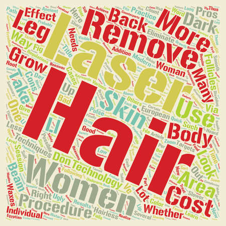 removal: Laser Hair Removal The Good the Bad and the Ugly text background wordcloud concept Illustration