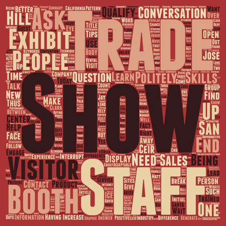 increase sales: Increase Sales At Your Trade Show Booth text background wordcloud concept Illustration