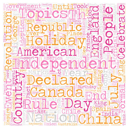 george washington: Independence Fever text background wordcloud concept