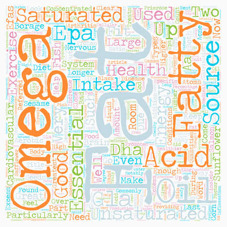 acids: Keep Fit With Essential Fatty Acids text background wordcloud concept