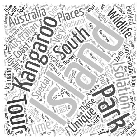island paradise: Kangaroo Island An Australian Island Paradise text background wordcloud concept