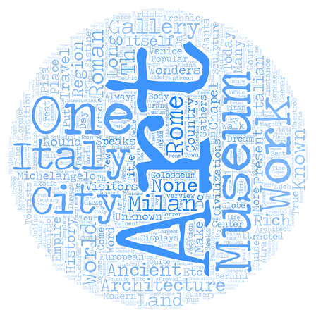 travel guide: Italian travel guide text background wordcloud concept Illustration