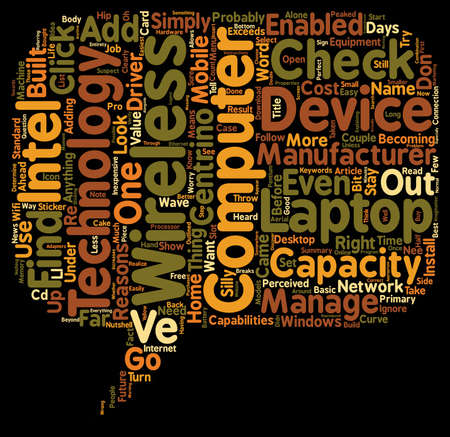 laptop home: Is Your Laptop Or Home Computer Wireless Enabled text background wordcloud concept
